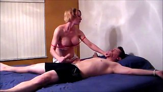 Tied patient gets abused by nurse