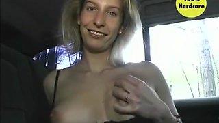 Blonde In A Car