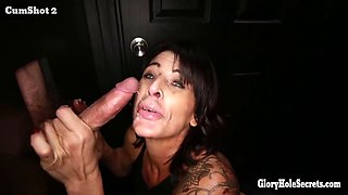 Gloryhole Secrets mature woman gets more cum than she