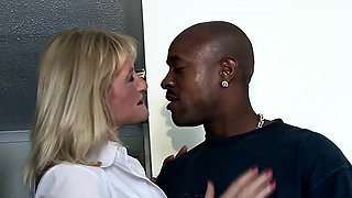 Cougar trying out a BBC while hubby is gone