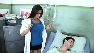 Big titty nurse Austin Kincaid female doctor fucks
