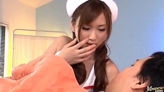 Asian Nurse Riding A Patient's Really Hard Cock