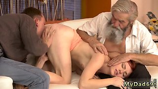 Old fuck in bus Unexpected practice with an older gentleman