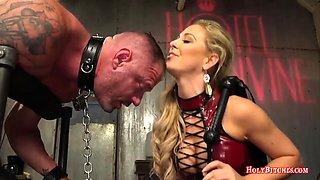 Cherie Deville Pegging Submissive Dude
