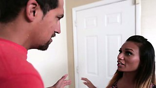Small alluring innocent girl Natalia Gomez takes a huge
