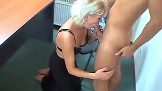 Amateur from mother and son