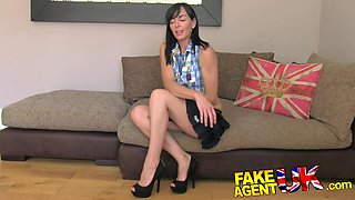 FakeAgentUK: Slim and sexy MILF knows how to handle agents cock