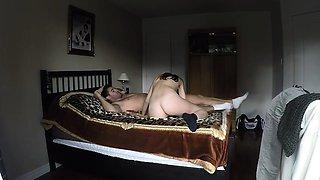 Romanian couple fucks in bed