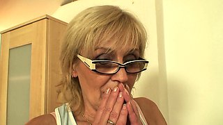 Skinny old mother in law taboo cock riding