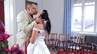 submissive bride gets banged passionately