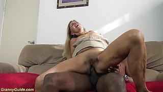 first big black cock for sexy grandma