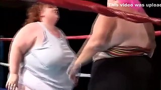 Two obese bitches fucked by a horny midget
