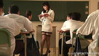 Three Students Mess With Their Hot Teacher