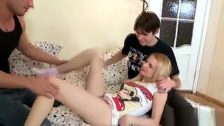 Dude Assists With Hymen Examination And Riding Of Virgin Nym