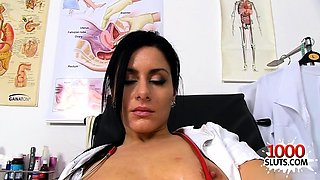 Natural tits nurse gaping with cumshot