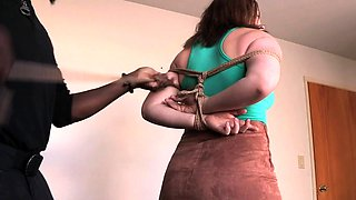 Bootylicious slave dominated by black maledom