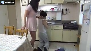 Nice asian japanese housewife fucks the plumber