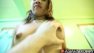 asian sex diary - big white cock destroys cute filipina