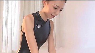 Super Cute Japanese Woman in a Speedo