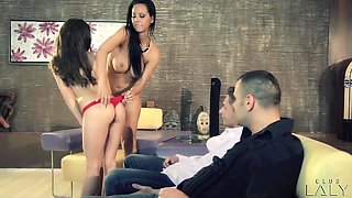 Sexy sluts DP screwed in foursome with Antonio Ross and Sabby