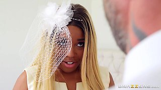 lustful bride cheats on the groom right during the wedding