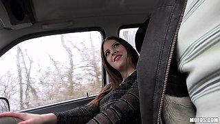 Sucking a delicious cock in the car isn't enough for Rebecca Volpetti
