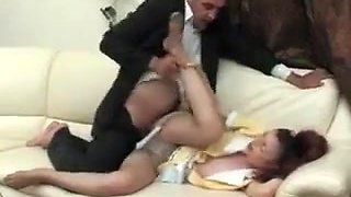 Red Haired Maid Wants Her Boss To Fuck Her