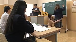 Japanese invisible school girl