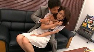 Risa Kasumi Asian school teacher fets a fucking