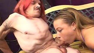 Beautiful girl blowjob ugly midget