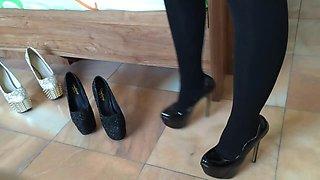 Girl wear hot high heels