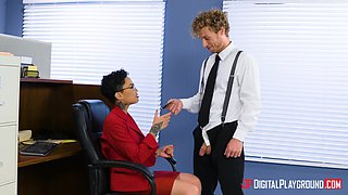 Honey Gold is a naughty secretary in need of a stiff boner