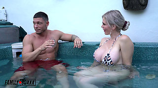 I fucked My Stepmon and Stepsis in the Hot Tub