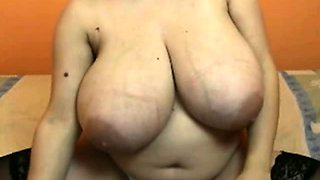 Turkish milf with huge tits on webcam