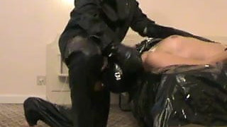 lena deepthroat latex slave girl