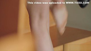 Tiny teen getting her asshole gaped