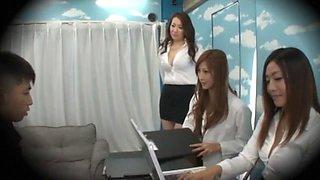 Fabulous Japanese chick Leila Aisaki, Aoi Aoyama, Miwako Yamamoto in Exotic Handjobs, Blowjob JAV clip