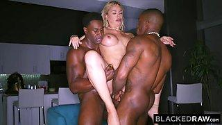 Blonde PAWG DeArmond DPed Interracially