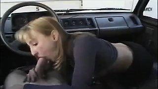homemade, blowjob in a car, loads of sperm