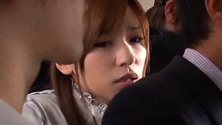 Crazy Japanese whore in Fabulous Compilation, Cougar JAV video