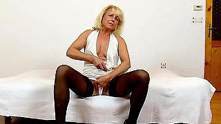 Sexy stockings legs cougar Koko pussy eating and facesitting