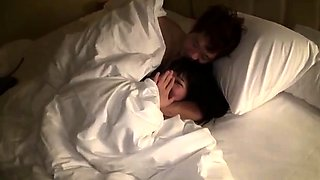 Asian cutie with perky titties gets banged hard on the bed