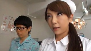 Exotic Japanese model Yuria Shima, Azusa Ito in Best Nurse JAV scene