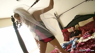 Teen Bride Cheating Fuck the Wedding Planer one day before
