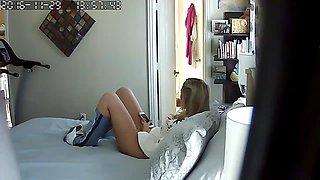 daughter caught in mom's bedroom