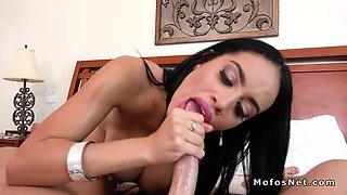 Big ass Latina stepmom bangs huge dick