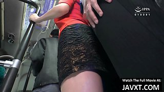 Hot Japanese MILF Fucked In Public Bus