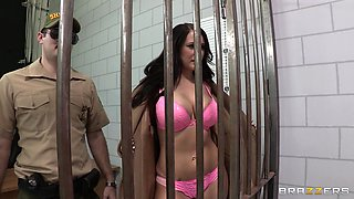 Alexis Grace Gets Her Tits Fucked In Prison
