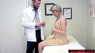 Petite teen patient analyzed by a perverted doctor
