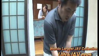 cheating japanese wife while husband golfs